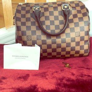 Authentic Louis Vuitton Speedy 25 Damier Ebene